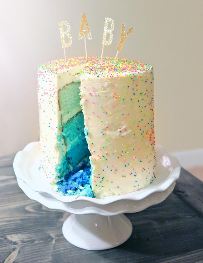 Ashley Brooke Designs - Gender Reveal Cake