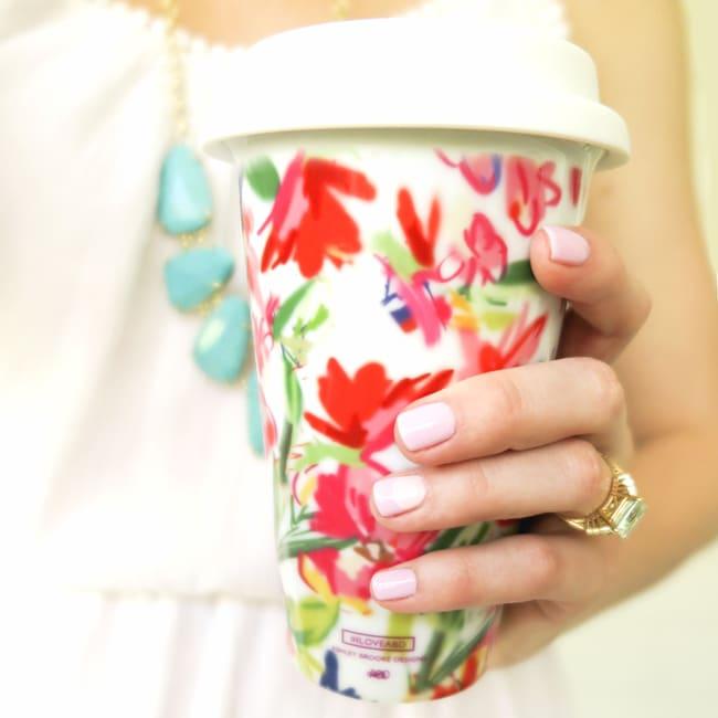 Pretty Floral Travel Mug