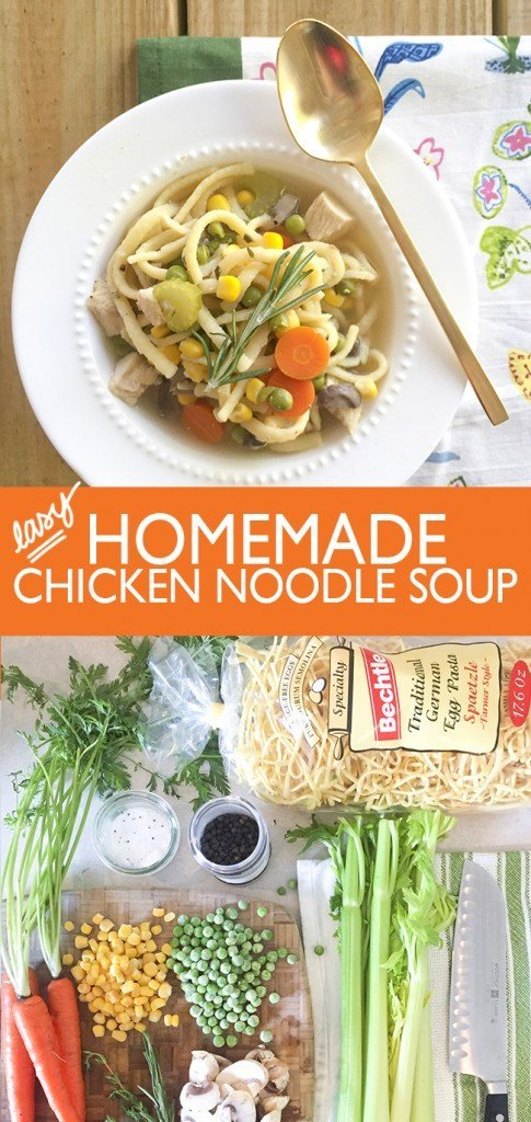 Easy Healthy Homemade Chicken Noodle Soup - Ashley Brooke Designs