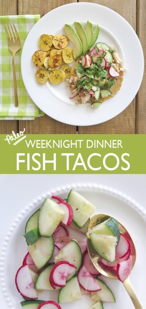 Paleo Weeknight Dinner Fish Tacos - Ashley Brooke Designs