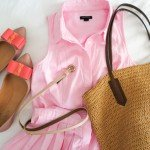 Ashley Brooke Designs -Pink Shirt Dress