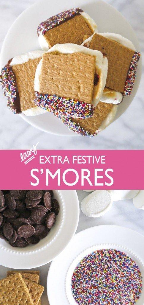 Easy Festive S'mores - Ashley Brooke Designs