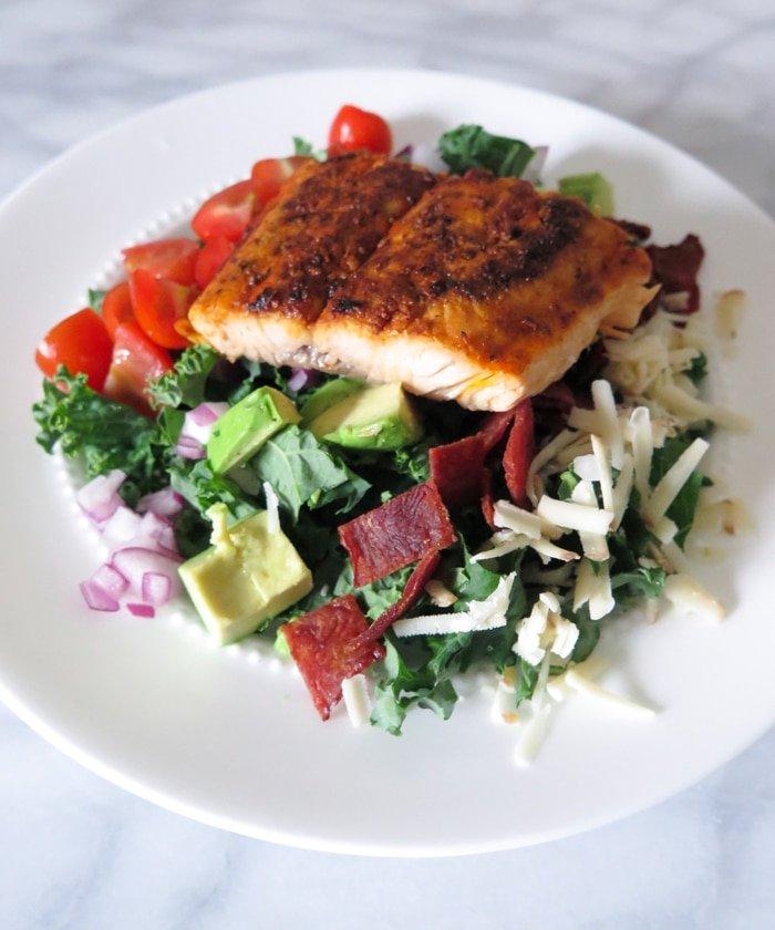 Ashley Brooke Designs - Salmon BLT Kale Salad