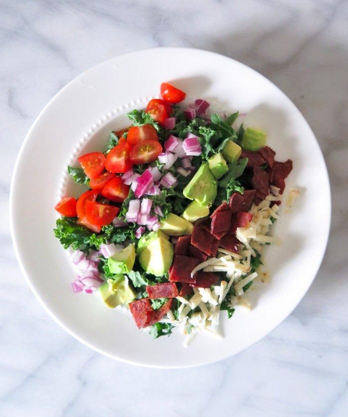 Ashley Brooke Designs - Salmon BLT Kale Salad 2