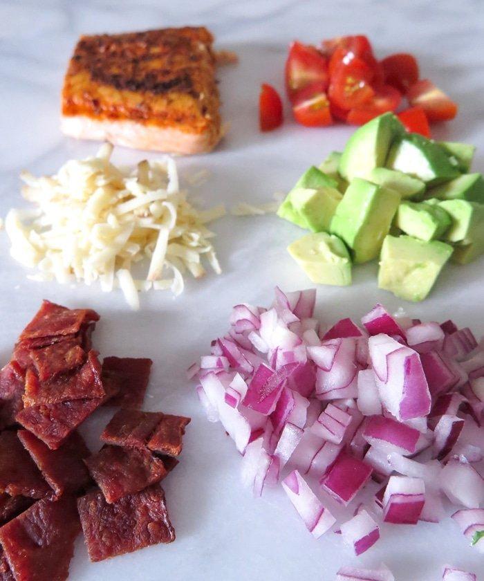Ashley Brooke Designs - Salmon BLT Kale Salad 5