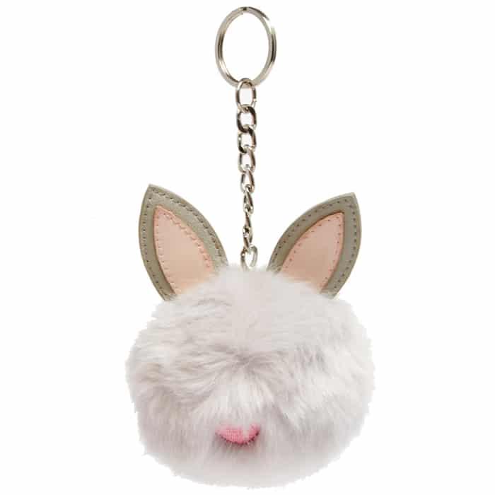 Ashley Brooke Designs - fuzzy bunny key chain