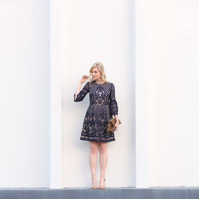 Ashley Brooke Designs - Navy + Lace Dress