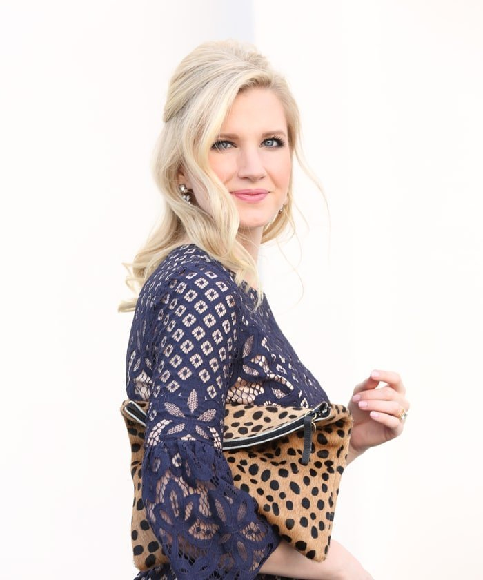 Ashley Brooke Designs - Navy + Lace Dress 3