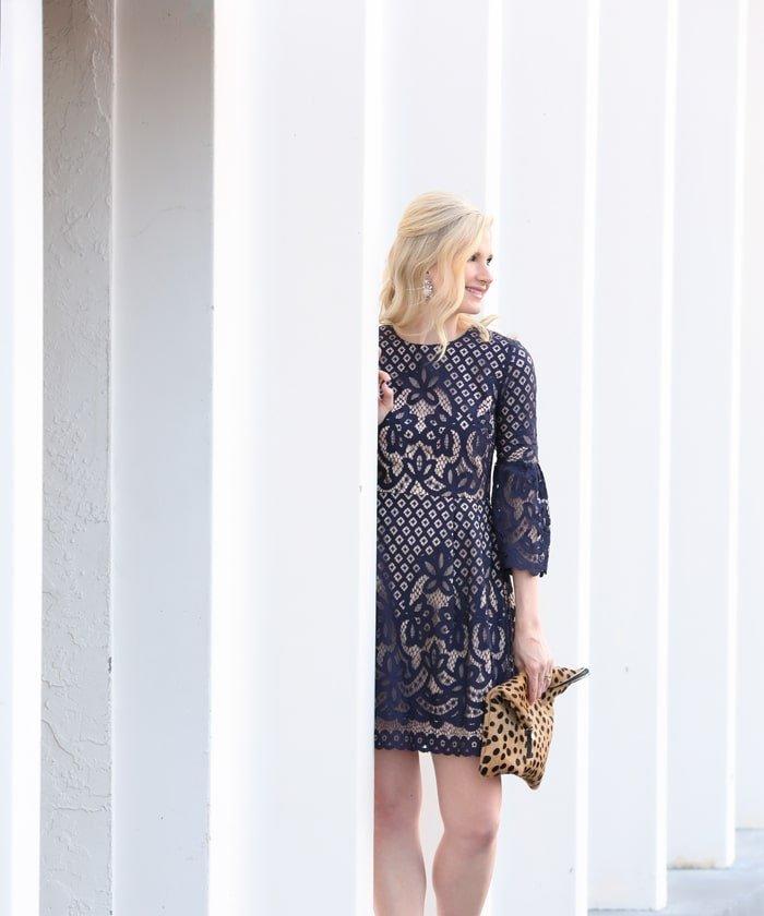 Ashley Brooke Designs - Navy + Lace Dress 4