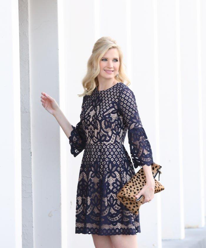 Ashley Brooke Designs - Navy + Lace Dress 5