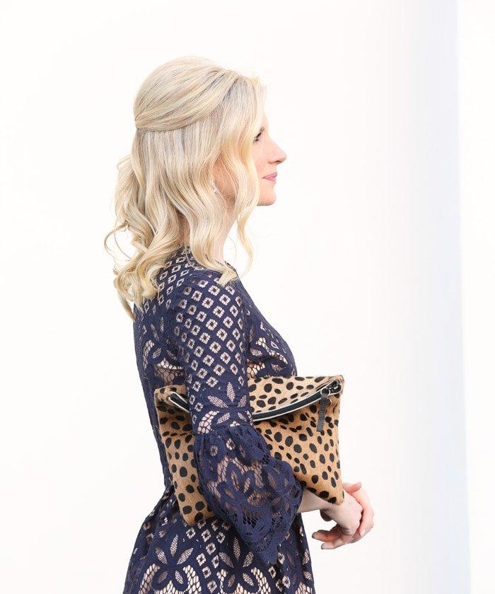 Ashley Brooke Designs - Navy + Lace Dress 6
