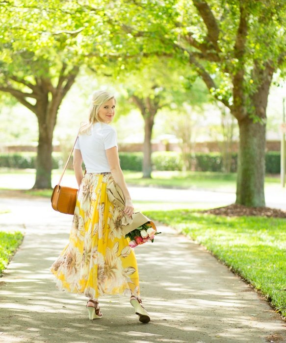 Ashley Brooke and Floral Maxi Skirt