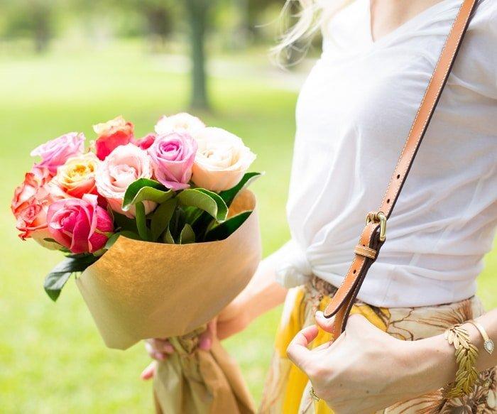 Ashley Brooke holding Roses