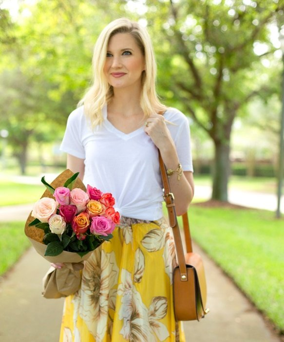 Ashley Brooke and Floral Maxi Details