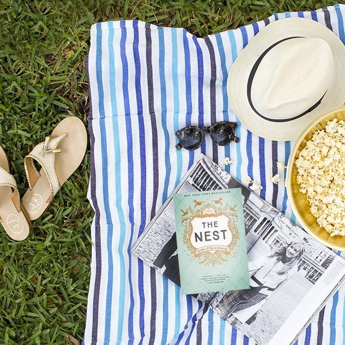 ABD picnic and reading the book, The Nest