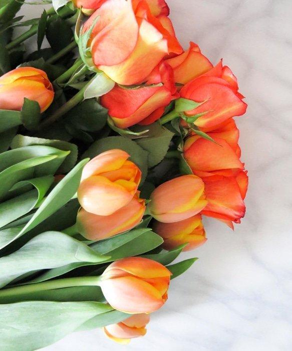 Ashley Brooke Designs - Orange Flowers