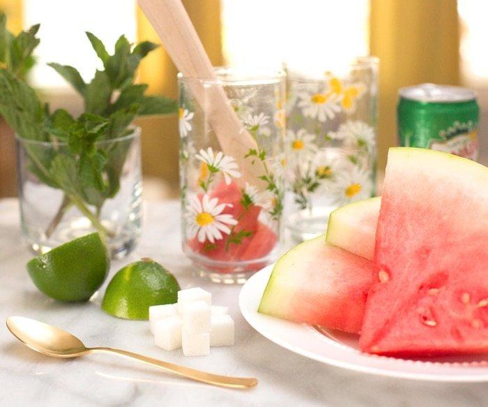 Watermelon Mojito Recipe Ingredients