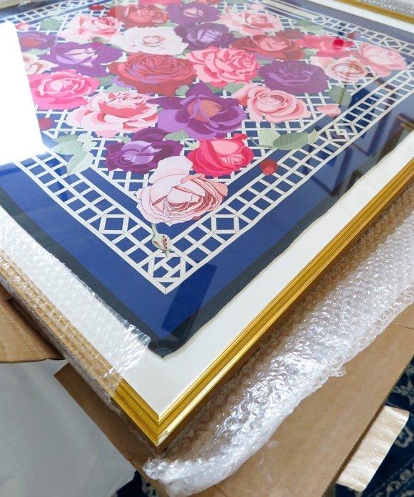 Framed Hermes Scarf at Ashley Brooke Designs