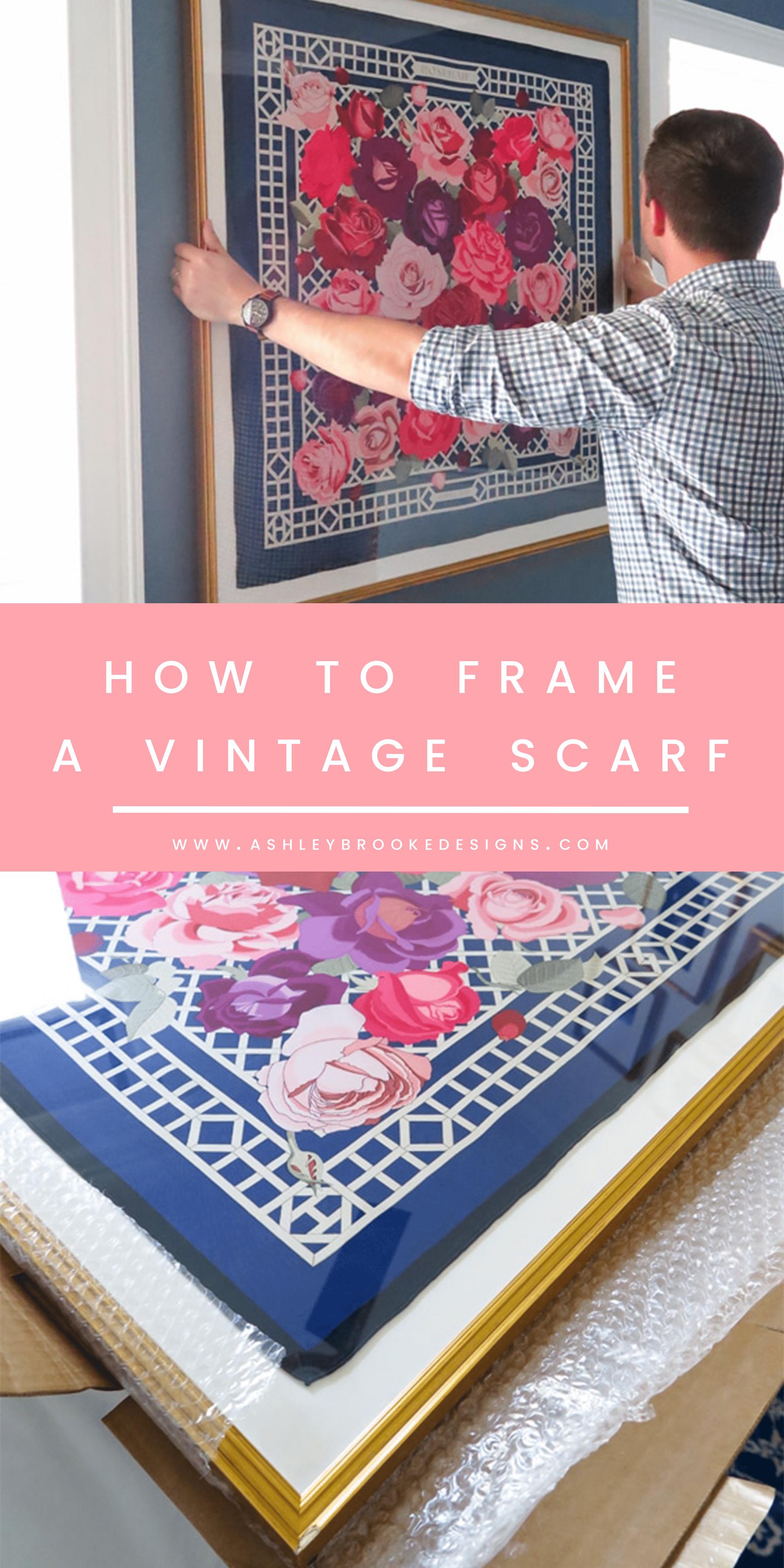 How We Framed A Vintage Hermes Scarf Ashley Brooke Designs