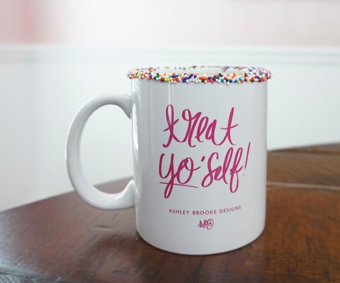 Ashley Brooke Deisgns - Sprinkle Rimmed Mug