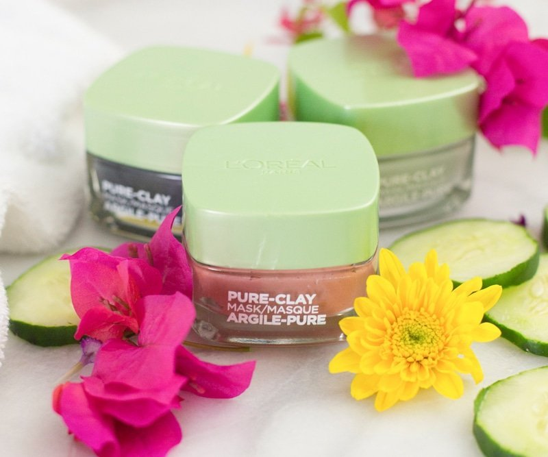 L'Oreal Pure Clay face masks