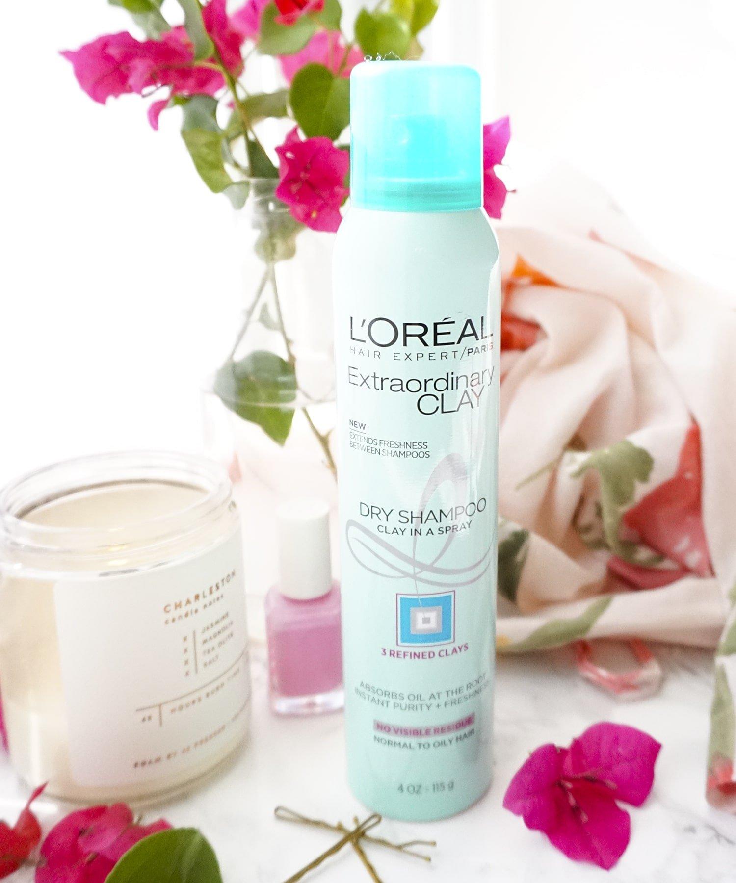 Blogger Ashley Brooke's Review of L'Oreal's Extraordinary Clay Dry Shampoo