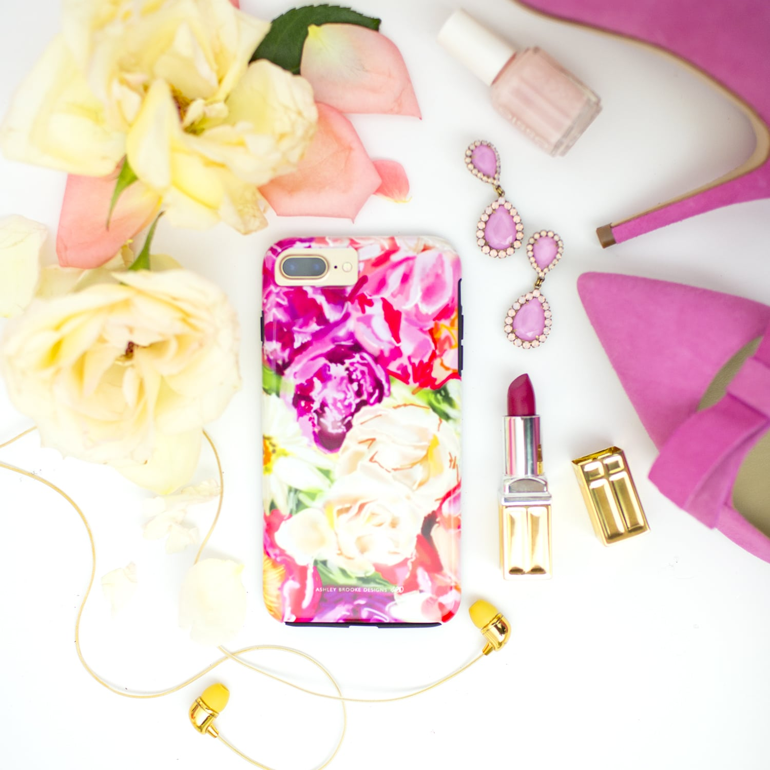 Ashley Brooke Designs Hand Illustrated Peony Floral Phone Cases | ashleybrookedesigns.com