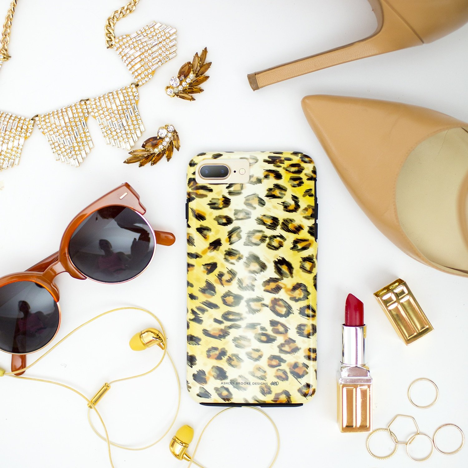 Ashley Brooke Designs Hand Illustrated Leopard Phone Cases | ashleybrookedesigns.com