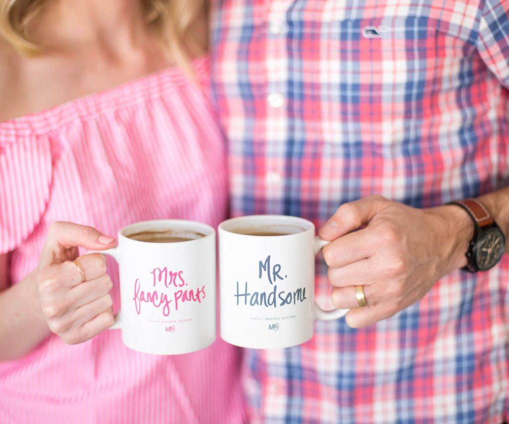 Ashley Brooke Designs -Mrs. & Mr Coffee Mugs | www.ashleybrookedesigns.com