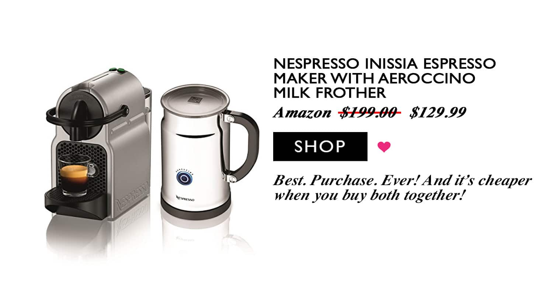 Blogger Ashley Brooke's Favorite Purchase, the Nespresso Maker | www.ashleybrookedesigns.com