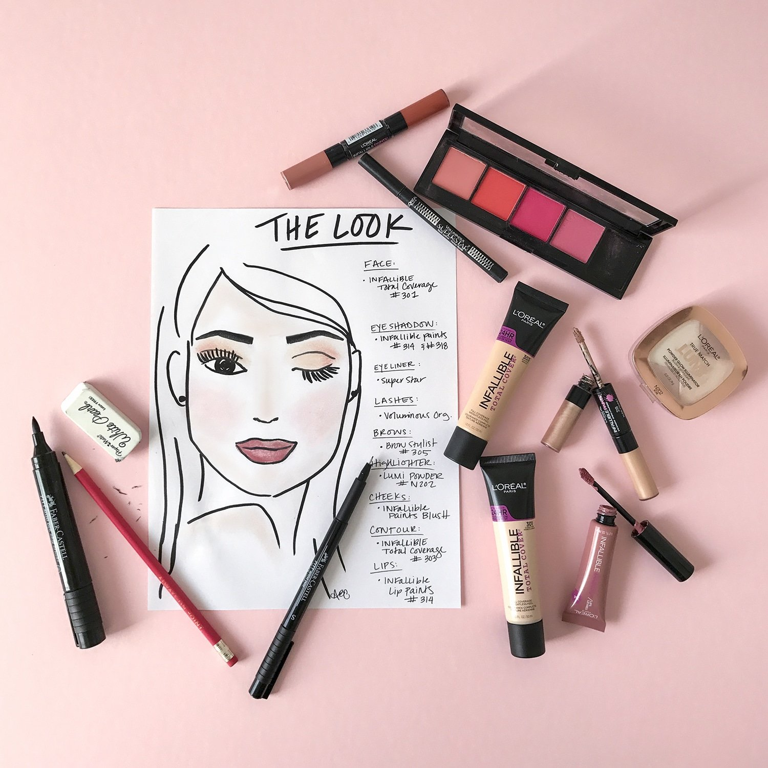 Easy Rosy Make-Up with L'Oreal! - Ashley Brooke Designs