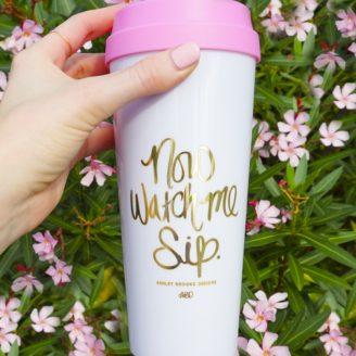 Now Watch Me Sip Travel Mug