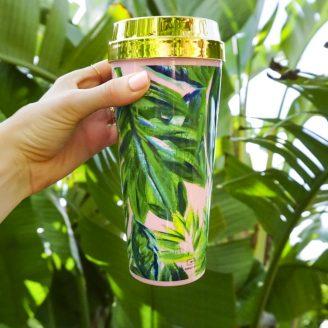 The Cutest Palm Print Travel Mug