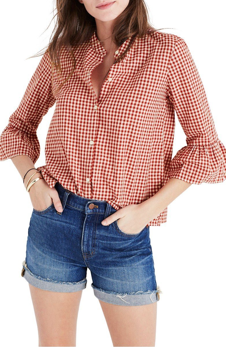 Gingham tops are perfect for the summer and also double as coverups at the beach or pool! | www.ashleybrookedesigns.com