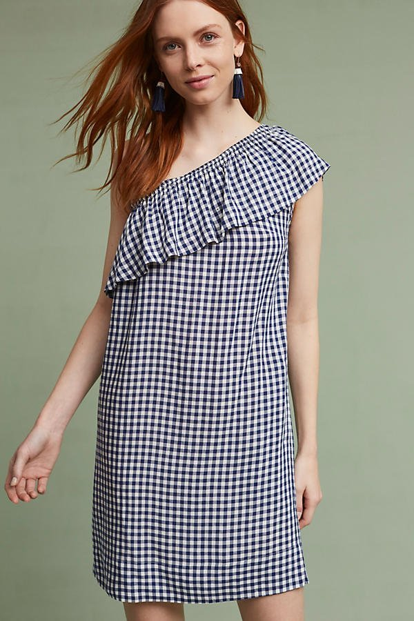 A cute gingham dress is the number one piece you need to purchase for summer! | www.ashleybrookedesigns.com