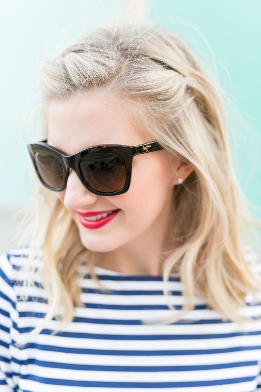 "Blogger Ashley Brooke wearing Maui Jim's ""Classic"" sunglasses. | www.ashleybrookedesigns.com"