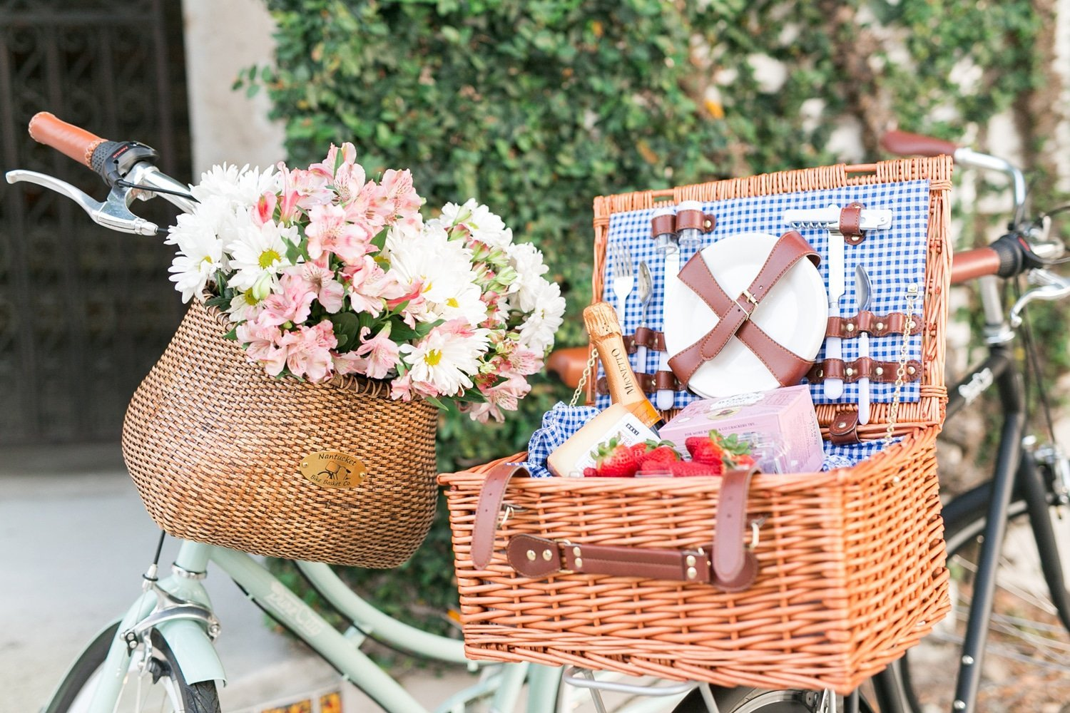 The perfect date night picnic complete with a bike ride! | www.ashleybrookedesigns.com