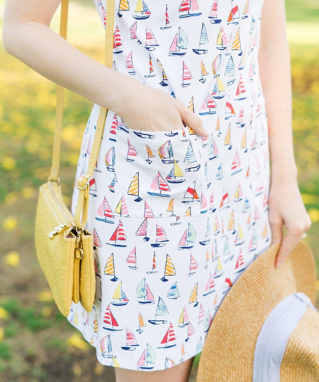 Blogger Ashley Brooke wearing Persifor Sailboat Carter Dress   www.ashleybrookedesigns.com
