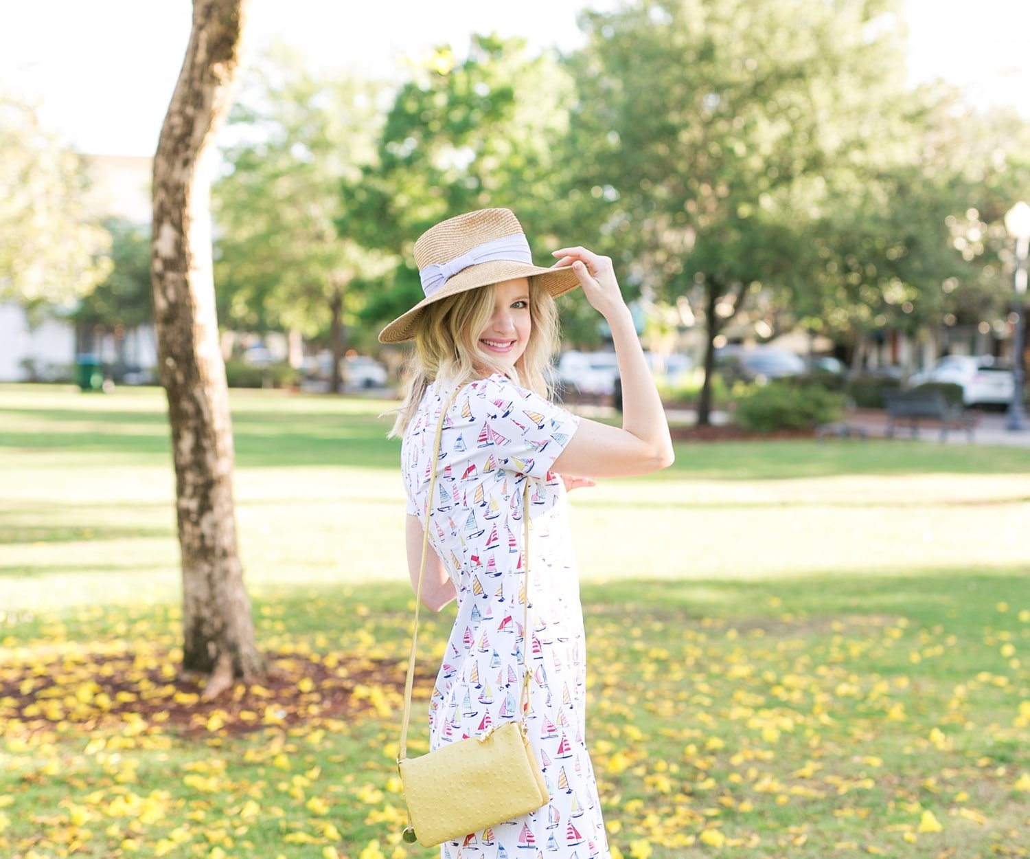 Blogger Ashley Brooke wearing Persifor Sailboat Carter Dress | www.ashleybrookedesigns.com