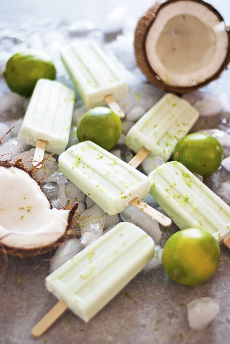 Coconut lime popsicles cannot be a bad thing to make during the summer! | www.ashleybrookedesigns.com