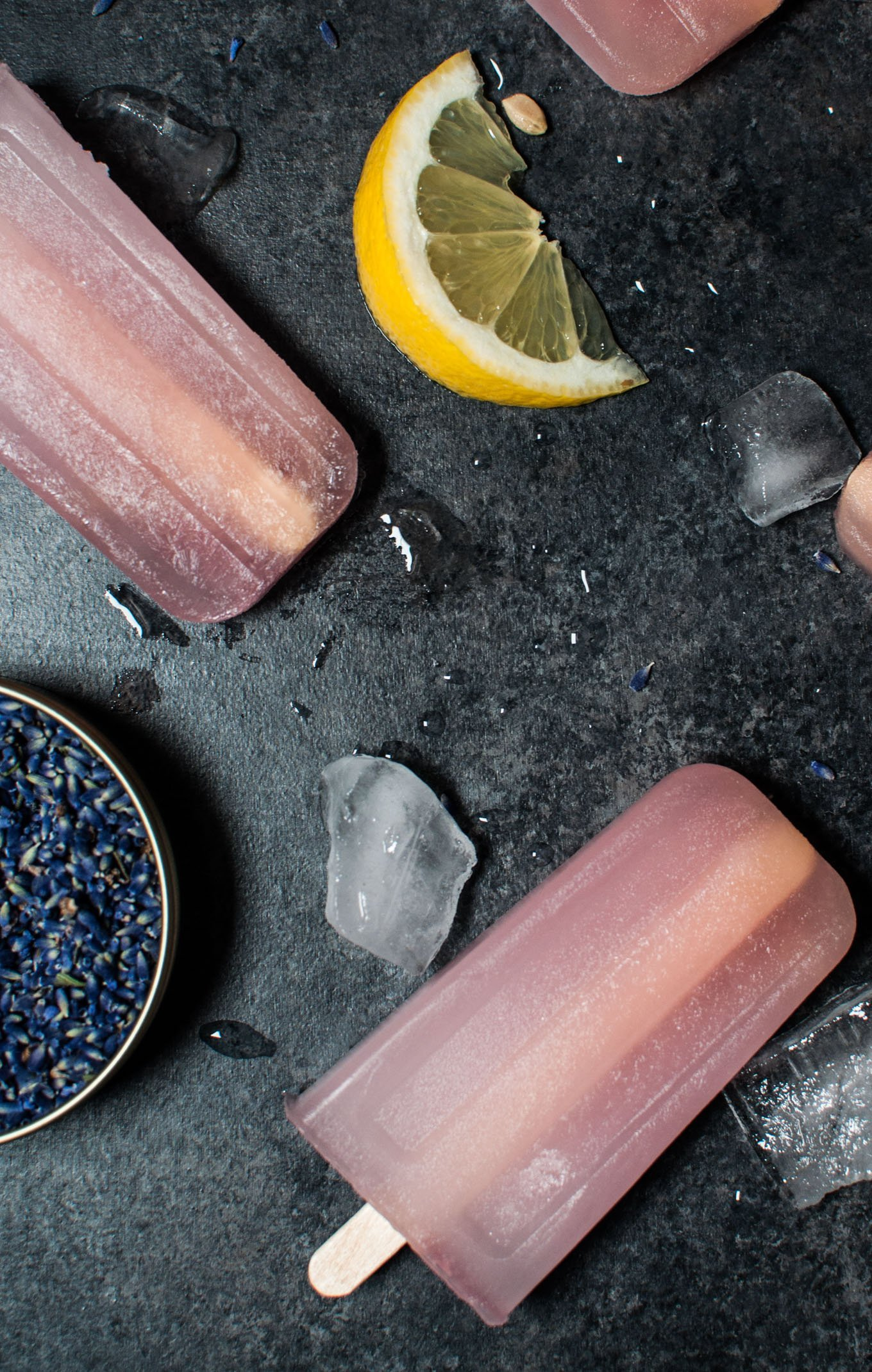 Lavender Lemonade Popsicles - These sound ALMOST too good to eat! | www.ashleybrookedesigns.com
