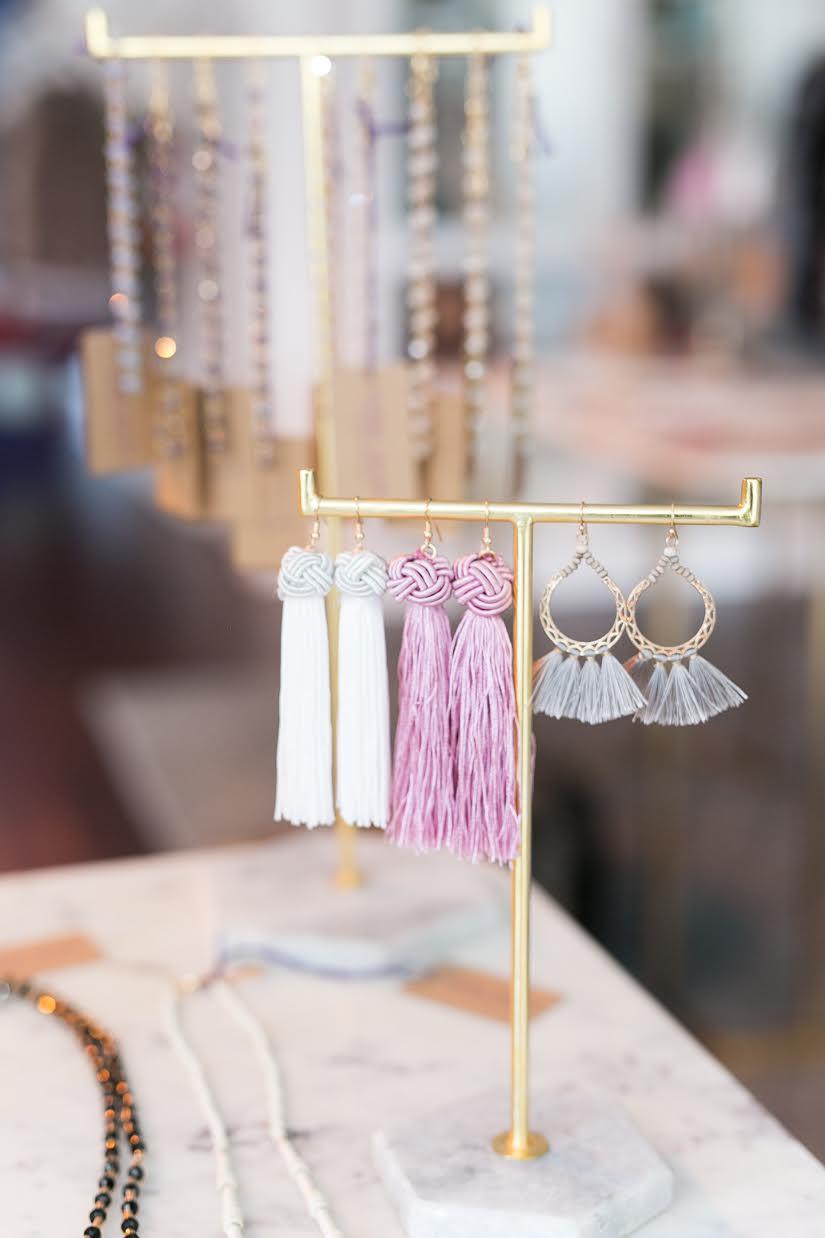 The prettiest tassel earrings from Violet Clover in Winter Park, Florida. | www.ashleybrookedesigns.com