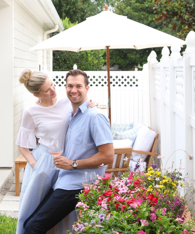 Blogger Ashley Brooke and Ryan redesigned their backyard as a DIY! | www.ashleybrookedesigns.com