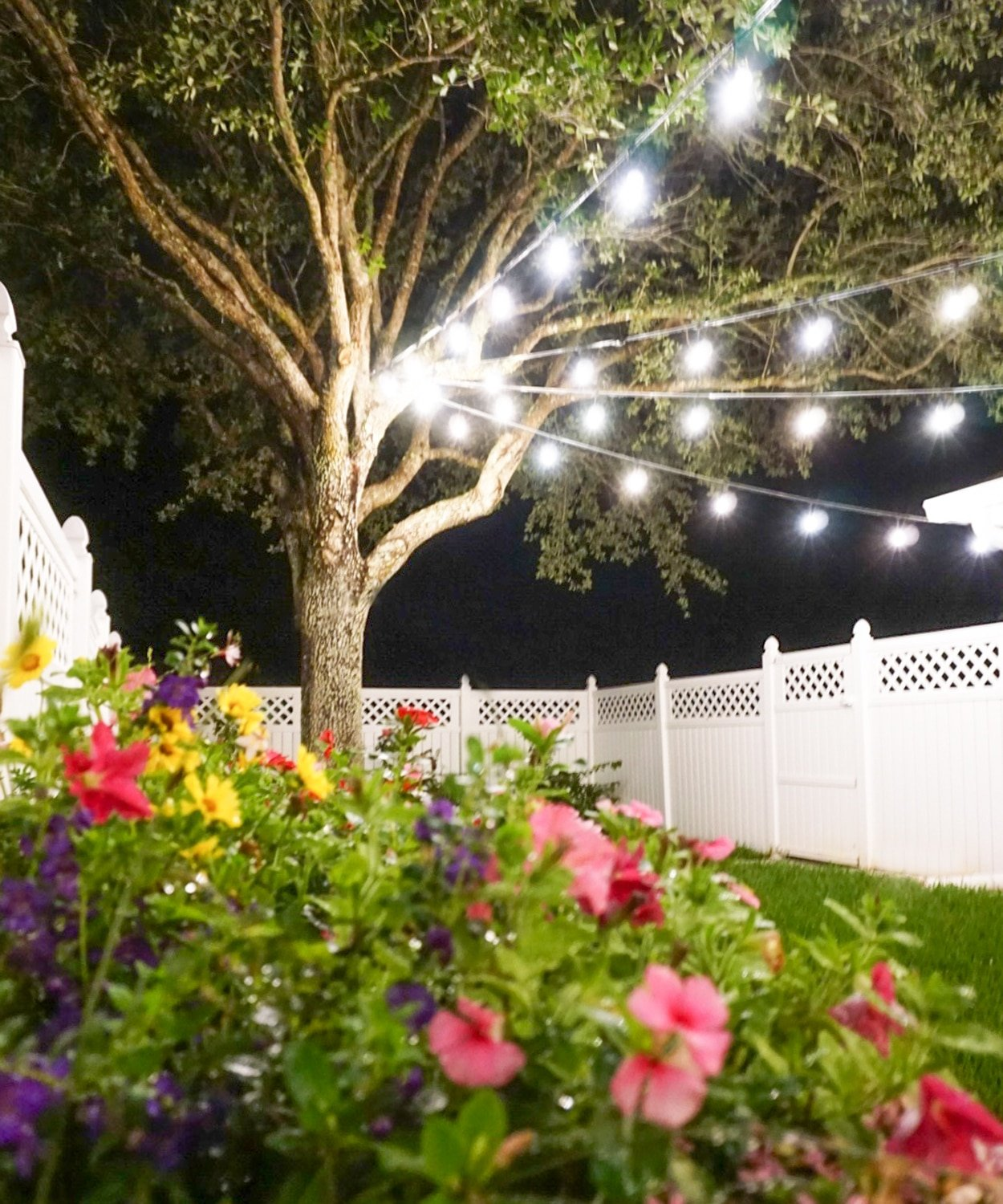 How to hang string lights on www.ashleybrookedesigns.com