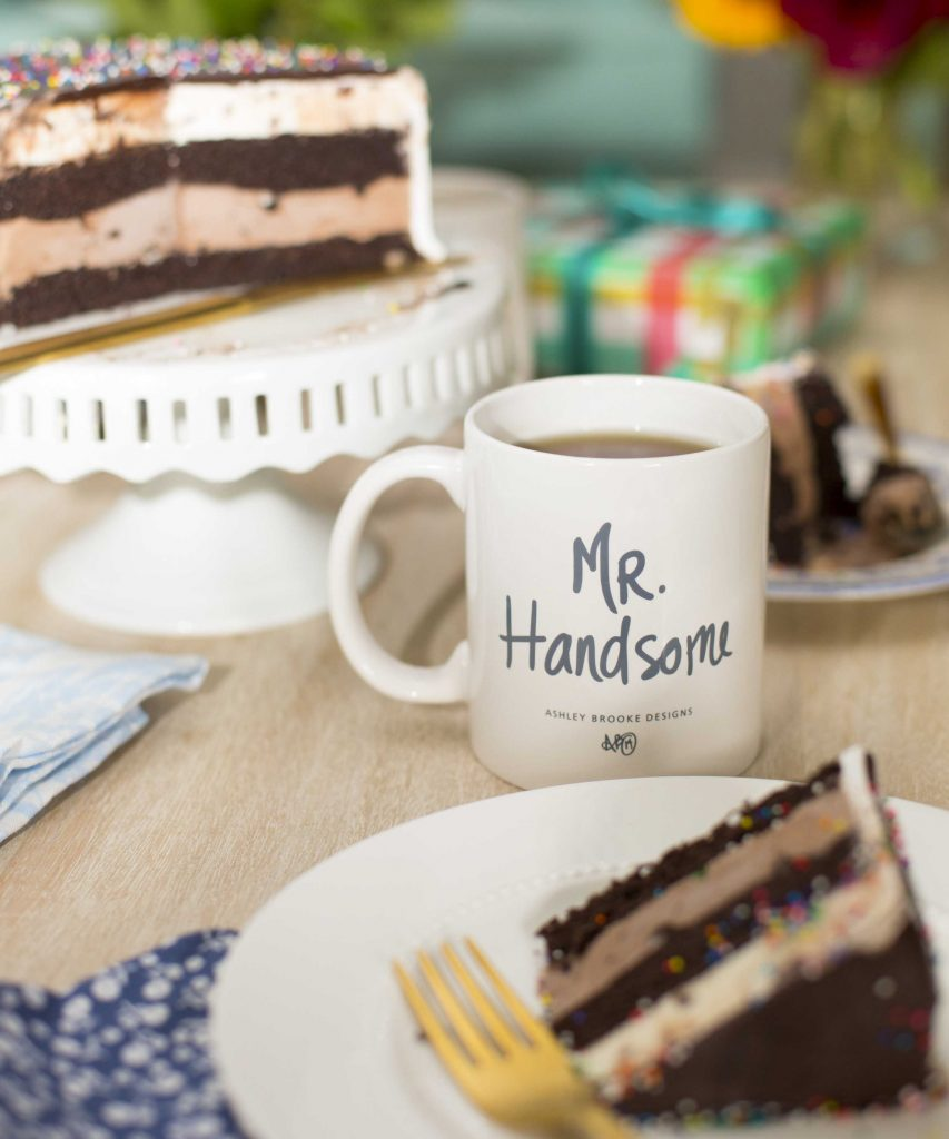 Our Mr. Handsome mug makes the best Father's Day gift! | www.ashleybrookedesigns.com