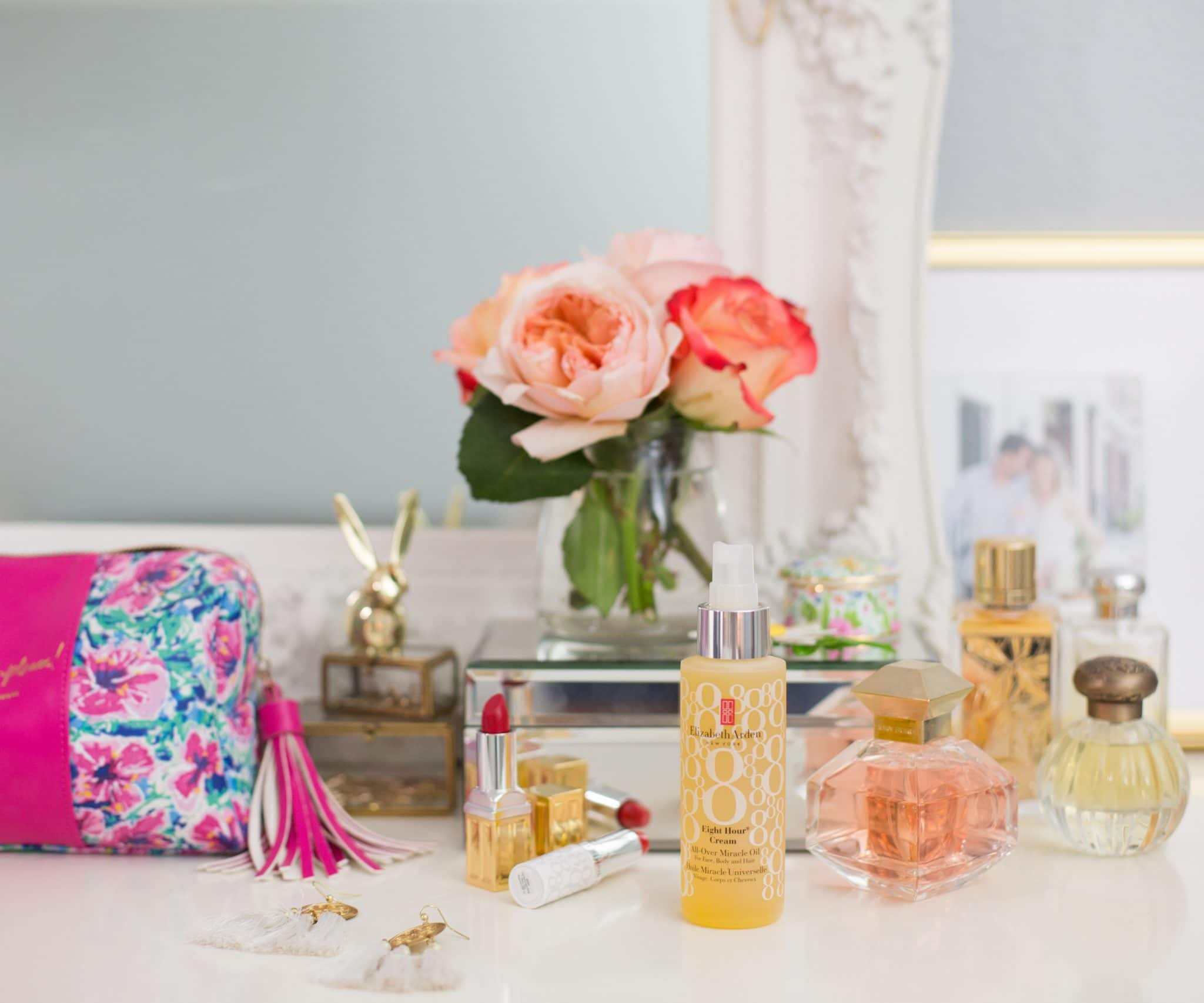 Blogger Ashley Brooke shares how she stays hydrated with Elizabeth Arden's Eight Hour Collection. | www.ashleybrookedesigns.com