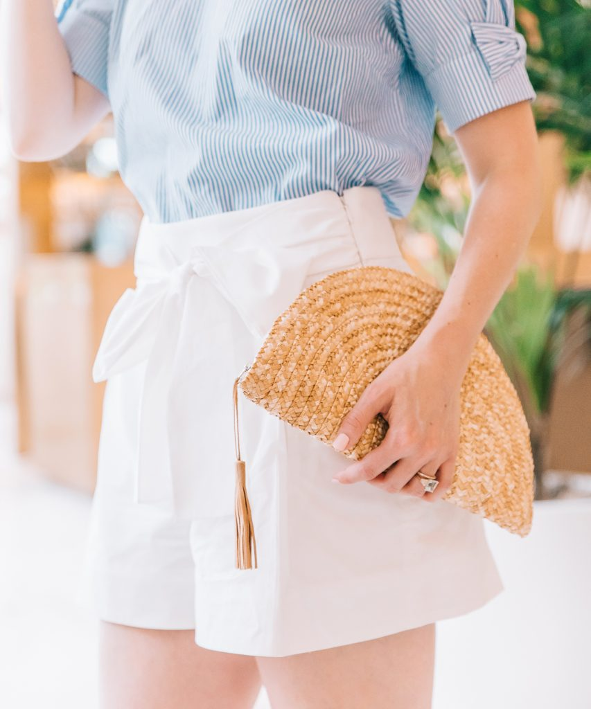 Blogger Ashley Brooke shares why she loves her half moon clutch from Tuckernuck for summer wardrobes. | www.ashleybrookedesigns.com
