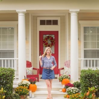 Fall Front Door Decor: In 4 Easy Steps