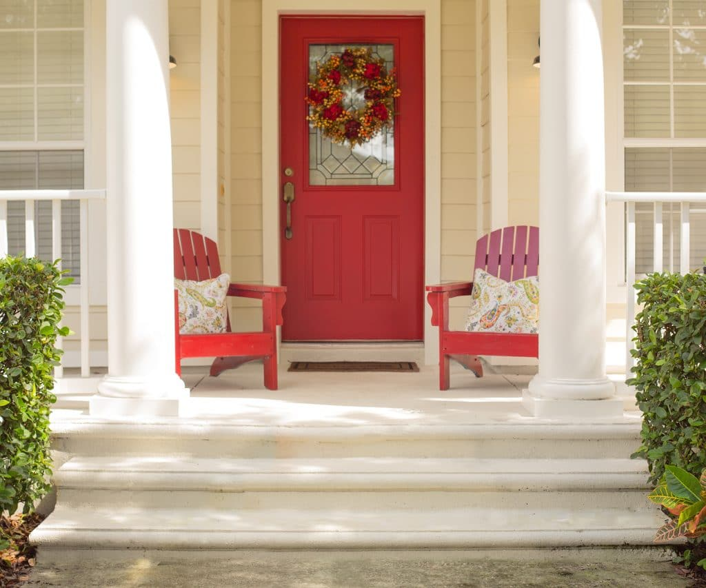 Fall Front Door Decor In 4 Easy Steps Ashley Brooke Designs