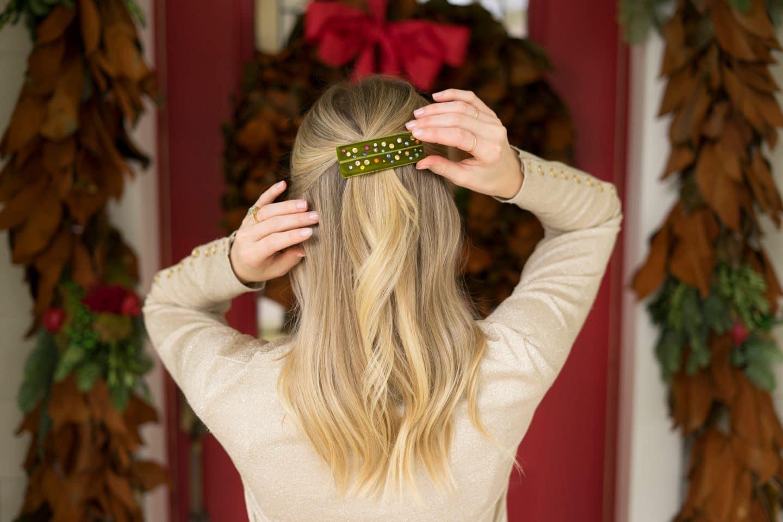 DIY Barrettes & Velvet Hair Bows | www.ashleybrookedesigns.com